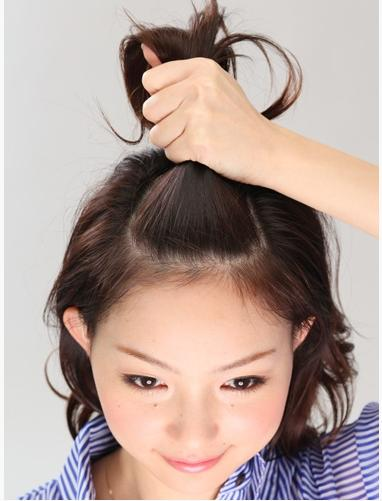 Uốn xoăn tạo kiểu cho tóc ngắn