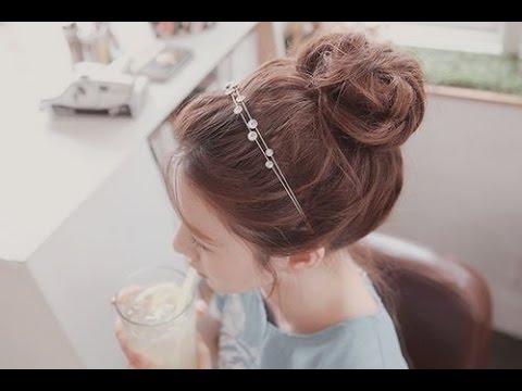 Cách buộc tóc củ tỏi thấp