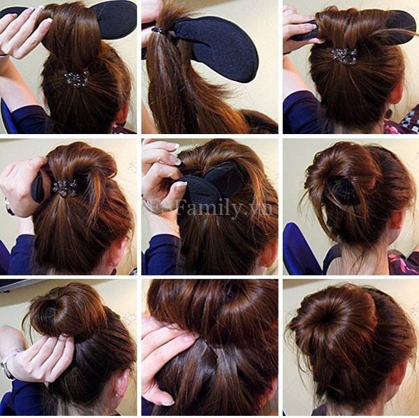 Hướng dẫn cách búi tóc củ tỏi theo phong cách Hàn Quốc khiến giới trẻ phát sốt