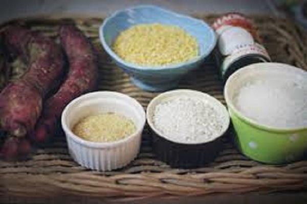 Nguyên liệu cần chuẩn bị để nấu món chè khoai lang đậu xanh