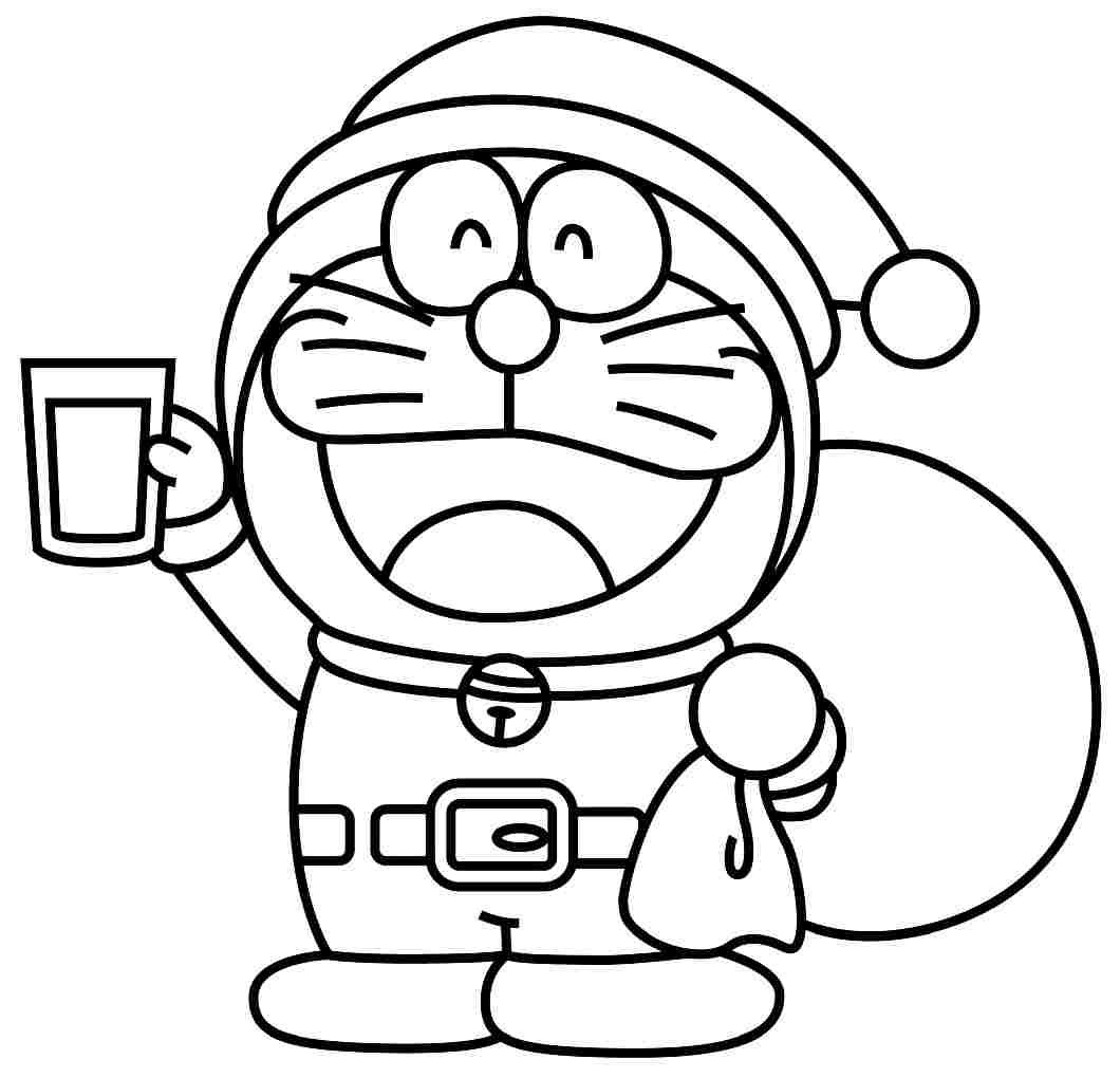 Doraemon Black And White Doraemon Coloring Pages For Free Coloring Page Doraemon In General
