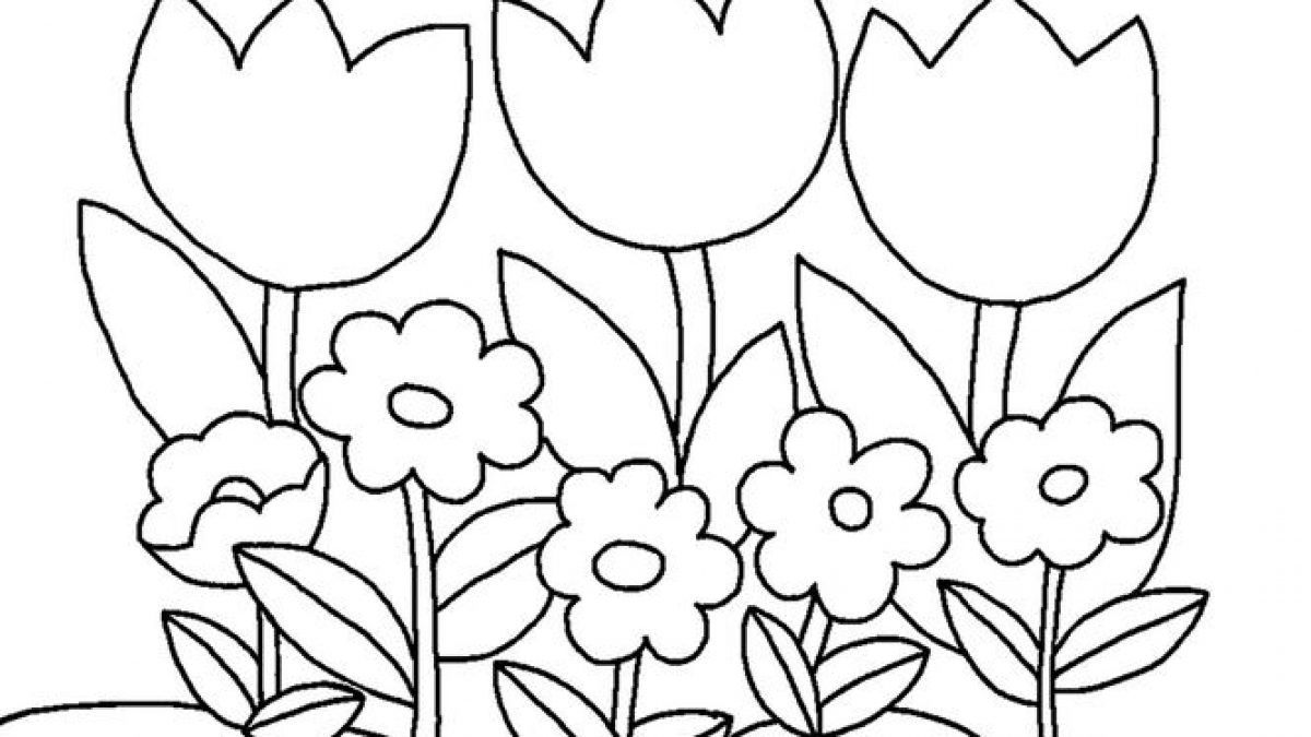Tranh tô màu hoa thân thuộc, đầy màu sắc cho bé tập tô