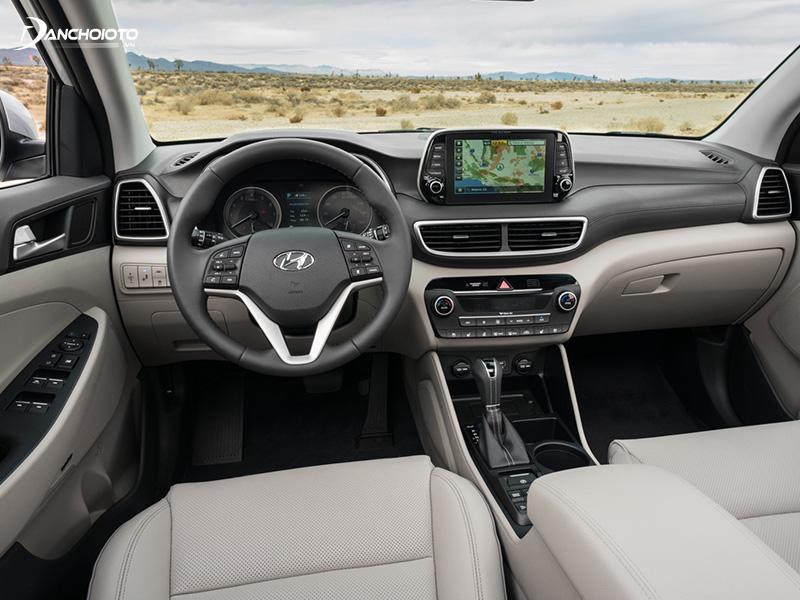 Nội thất xe Hyundai Tucson trang bị nhiều tiện nghi hiện đại